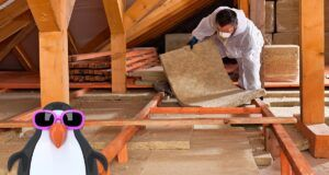 Worker insulating roof